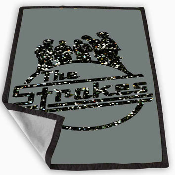 The Strokes Sparkly Glitter Blanket for Kids Blanket, Fleece Blanket Cute and Awesome Blanket for your bedding, Blanket fleece *