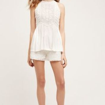 Elevenses Lacework Shorts in White Size: