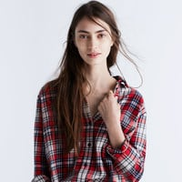 Flannel Oversized Ex-Boyfriend Shirt in Carl Plaid