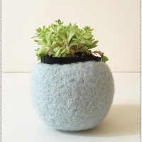 Felted Plant Holder | Hazy Blue
