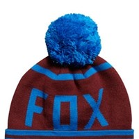 Fox Racing Formality Pom Beanie Hat For Men in Burgundy 10855-171