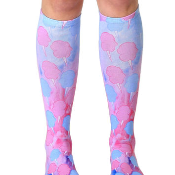 Cotton Candy Knee High Socks