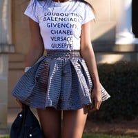 FREE SHIRT W/SKIRT PURCHASE Designer Girl Tshirt