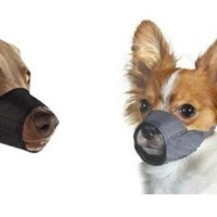 "Medium/Large Quick Fit Dog Muzzle, Size 3, fit snout size 7"", by Downtown Pet Supply"
