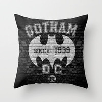 BATMAN! Throw Pillow by John Medbury (LAZY J Studios) | Society6