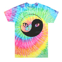 Yin Yang Kitty Tie Dye T-Shirt