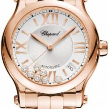 Chopard - Happy Sport Automatic - Round Medium 36mm - Rose gold