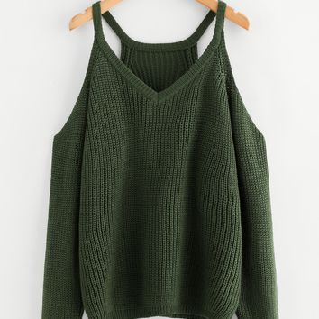 Cold Shoulder Boxy Jumper