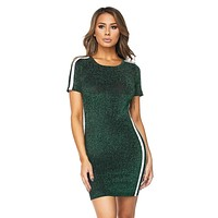 Game Day Green Glitter Dress