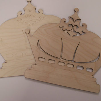 Crown Wood Shape, Laser Cut Wood Shape, Ready to Paint Woodcraft, Mardi Gras Decor, Wreaths, Door Hangers, Home Decor, Wall Art