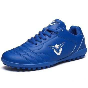 Soccer Shoes Man Football Boots Boys Children Tf Football Sneakers Blue Green Turf Soccer Boots Leather Men Cleats