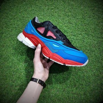 CREY8KY Raf Simons x Adidas Consortium Ozweego 2 Black Red Lucora 2018 Women Men Casual Trending Running Sneakers