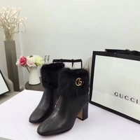 Gucci  Women Men Casual Shoes Boots fashionable casual leather