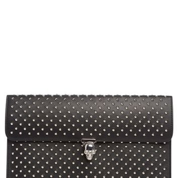 Alexander McQueen Studded Lambskin Leather Envelope Clutch | Nordstrom
