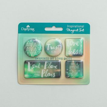Love Does - Inspirational Magnets, Set of 5