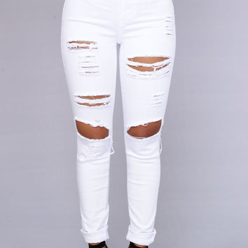Blanched Jeans - White