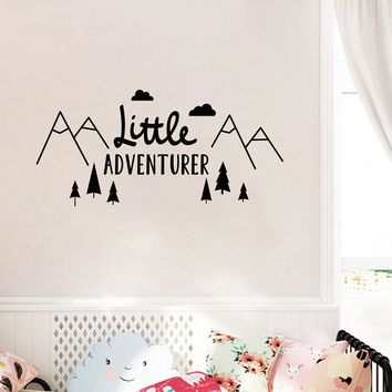 Little Adventurer Home Wall Decal Sticker Nordic Style Adventure Vinyl Wall Stickers For Kids Room Baby Room Nursery Mural A374