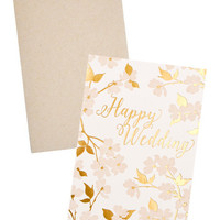 Dogwood Happy Wedding Card