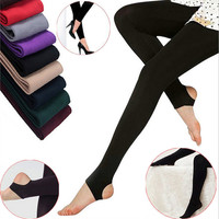 women winter warm Tights Knitted Women Pantyhose Stockings Velvet Solid Thick Warm pants Sexy skinny slim pants for women