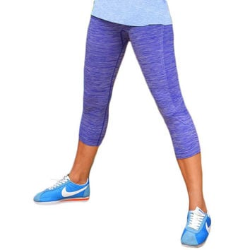 HOT Sexy Capri Cropped Push up Sliming Leggings Women Gymming High Waist Workout Bodybuilding Sporting Runs Slim Fitness Yogaing