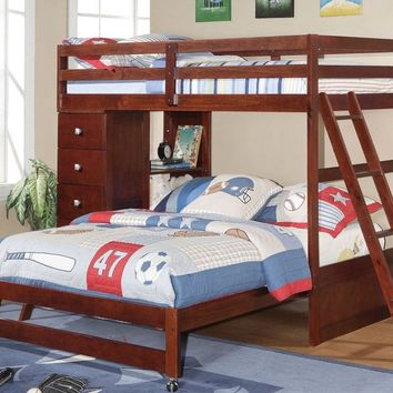 Jacob Twin over Full Bunk Bed with Dresser and Bookcase