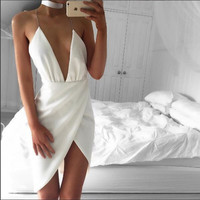 ‰ªÁ Elegant halter White bandage dress ‰ªÁ