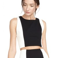 alice + olivia | SLEEVELESS FITTED CROP TOP
