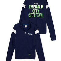 Seattle Seahawks Bling Boyfriend Half-Zip - PINK - Victoria's Secret