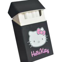 HELLO KITTY SILICONE CIGARETTE CASE - BLACK – tibbs & BONES