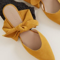 Bow leather shoes - Women | MANGO USA