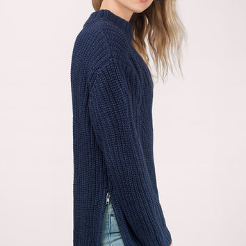 Zip It Good Mock Neck Sweater