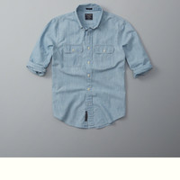 Pocket Chambray Button-Up Shirt