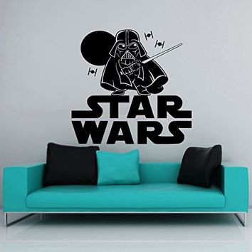 Wall Decal Star Wars Logo Darth Vader Vinyl Sticker Decals Nursery Baby Room Home Decor Bedroom Art Design Interior NS857
