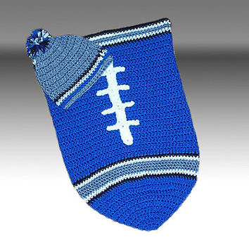 Detroit Lions Inspired Football Baby Cocoon & Hat (Newborn to 3 months)