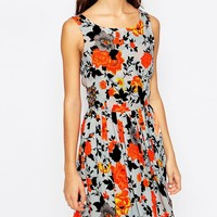 Oasis Rose Printed Sun Dress