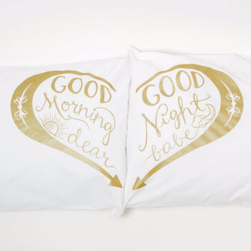 GOOD MORNING & GOOD NIGHT PILLOWCASES