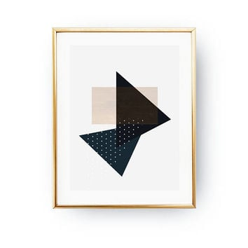Black Dark Blue Print, Geometric Shapes, Nordic Style, Simple Design, Geometric Textures, Minimalist Poster, Textured Wall Art, Pastel Decor