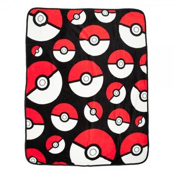 Pokémon Poké Ball Throw Blanket
