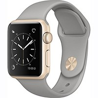 Apple Watch Series 1 38mm Smartwatch (Gold Aluminum Case, Concrete Sport Band)