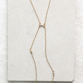 Ettika Cutting Edge Gold Rhinestone Necklace