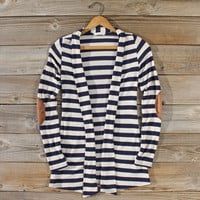 Patches & Stripes Cardigan in Navy
