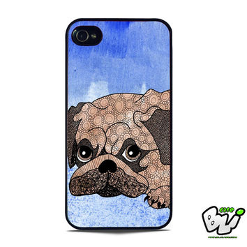 Painting Pug iPhone 5 Case | iPhone 5S Case