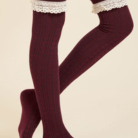 Haute at Heart Thigh Highs in Marsala