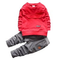 2016 New Baby Clothes Kids Suits Long Sleeve Sweatshirts + Pants Children Tracksuit Boys and Girls Clothes Set Kids Clothes