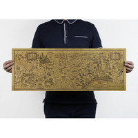 Free shipping,Harry Potter Magic world map Famous view/kraft paper/Cafe/bar poster/ Retro Poster/decorative painting 72x26cm-in Wall Stickers from Home & Garden on Aliexpress.com | Alibaba Group