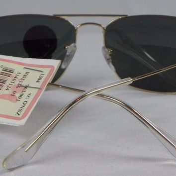 Cheap New Ray-Ban Aviator G-15 Lens Gold Frame Sunglasses w/Cloth & Hard Case outlet