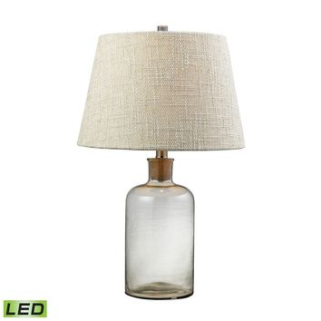 Clear Glass Bottle LED Table Lamp With Cork Neck