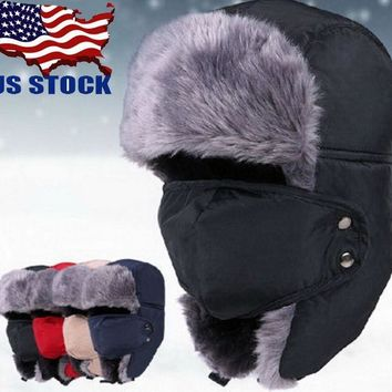4ee03b77f67 nisex Men Women Winter Trapper Aviator Trooper Earflap Warm Ski