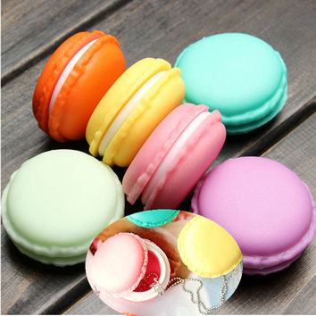 Novelty Cute Mini Laciness Macarons Box Candy Color For Jewelry Box Small Thing Storage Boxes Popular Featured 1pcs