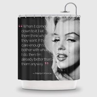 VogueLine creative Marilyn Monroe Designs Shower Curtain Printed Handmade Home & Living Bathroom-70*70